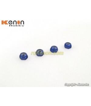PN Racing Alm. 2mm Wheel Lock Nut - Blue