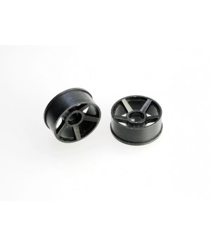 PN RACING MINI-Z 2WD MACHINE CUT 5 SPOKE REAR WHEEL R1 BLACK