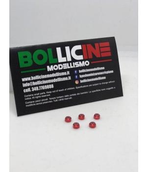 Bollicine Alm. 2mm Wheel Lock Nut - RED ( 5 DADI RUOTA )