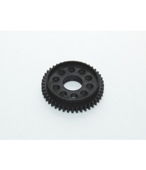 PN RACING 64 PITCH DELRIN SPUR GEAR 52T WITH BALL BEARING