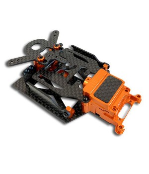 NX-116 Nexx Racing SKYLINE Dual Lipo Carbon Chassis Conversion Kit (ORANGE)