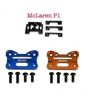 NX-203+NX-0012 Nexx Racing AluBody Mount Base (ORANGE-BLUE) +  McLaren P1 Carbon Fiber Adapter