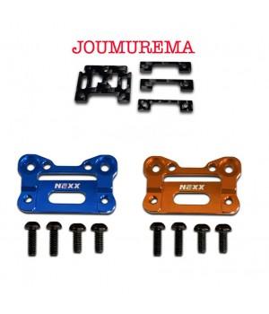 NX-204+NX-0011 Nexx Racing AluBody Mount Base (BLUE) +  JOMUREMA GT01 Carbon Fiber Adapter
