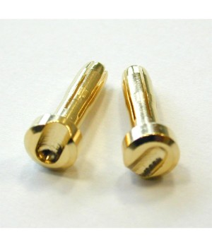 TQ Racing connettori testa piatta 4x18mm HD battery plug (2) GOLD