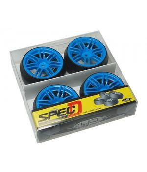 Yeah Racing Spec D gomme da DRIFT offset +6 con cerchio 7 raggi sdoppiati Blu
