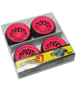 Yeah Racing Spec D LS gomme da DRIFT offset +6 con cerchio BBS Fucsia