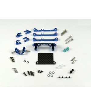 PN RACING MINI-Z V3 MR03/PNR2.5W DOUBLE A-ARM FRONT SUSPENSION (BLUE)
