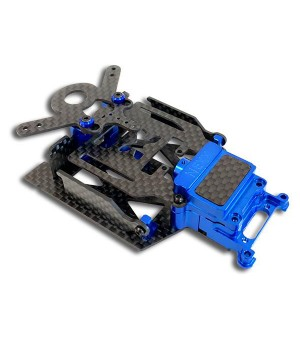 NX-117 Nexx Racing SKYLINE Dual Lipo Carbon Chassis Conversion Kit (BLUE)